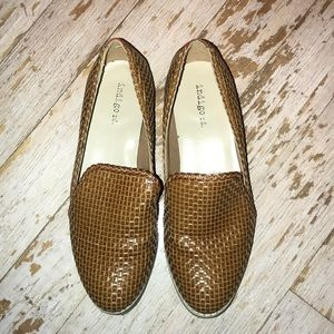 Brown slip on dressy shoes